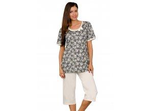 Dámské pyžamo Mauela se vzorem květů Taro