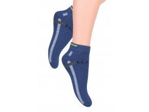 Chlapecké kotníkové ponožky s nápisem Speed 004/47