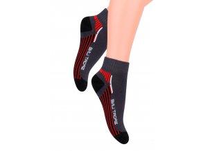 Chlapecké kotníkové ponožky s nápisem Sport line 004/75 Steven