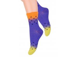 Dívčí klasické ponožky se vzorem srdíček 014/154 Steven