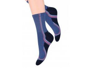 Dámské sportovní ponožky se vzorem s nápisem Speed NA89 Steven 026