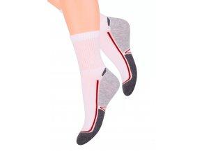 Dámské sportovní ponožky se vzorem dvoubarevného chodidla 91 Steven 026