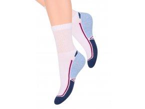 Dámské sportovní ponožky se vzorem dvoubarevného chodidla 92 Steven 026