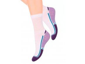 Dámské sportovní ponožky se vzorem dvoubarevného chodidla 93 Steven 026