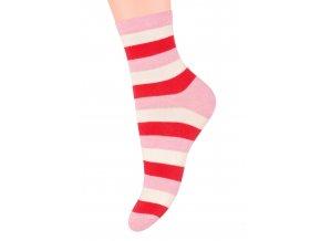 Dámské ponožky se vzorem proužků YE74 Steven 037