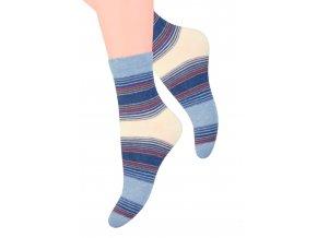 Dámské ponožky se vzorem proužků Steven 037/82