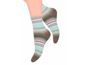 Dámské ponožky se vzorem proužků YE26 Steven 037