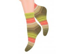 Dámské ponožky se vzorem barevných pruhů YE29 Steven 037