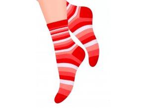 Dámské ponožky se vzorem silných proužků YF35 Steven 037
