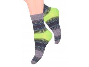 Dámské ponožky se vzorem proužků Steven 037/85