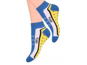 Dámské kotníkové ponožky s nápisem Sport line CO55 STEVEN 042