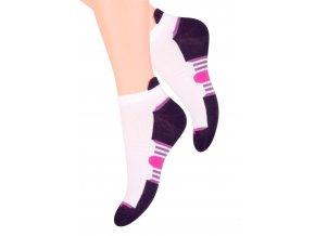 Dámské kotníkové ponožky se vzorem barevného chodidla s jazýčkem 47 STEVEN