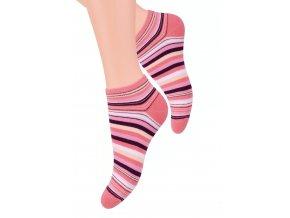 Dámské kotníkové ponožky se vzorem proužků 052/36 STEVEN