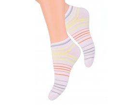 Dámské kotníkové ponožky se vzorem proužků 052/55 STEVEN