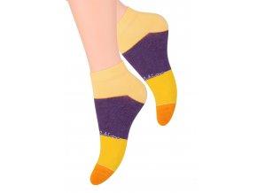 Dámské kotníkové ponožky se vzorem pruhů 052/63 STEVEN