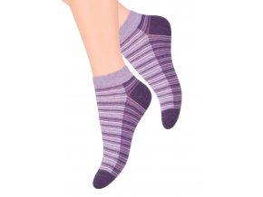 Dámské kotníkové ponožky se vzorem proužků 052/84 STEVEN
