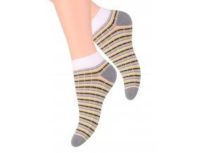 Dámské kotníkové ponožky se vzorem proužků 052/87 STEVEN
