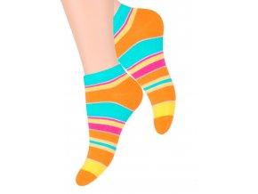 Dámské kotníkové ponožky se vzorem pruhů  052/102 STEVEN