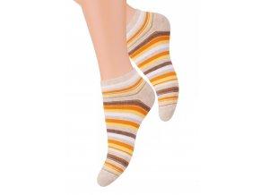 Dámské kotníkové ponožky se vzorem proužků 052/26 STEVEN