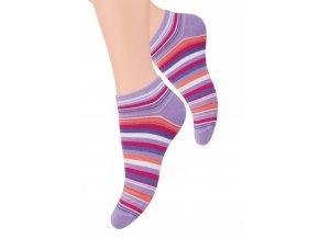 Dámské kotníkové ponožky se vzorem proužků 052/37 STEVEN