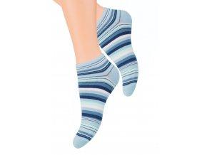 Dámské kotníkové ponožky se vzorem proužků 052/38 STEVEN