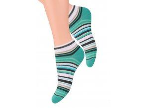 Dámské kotníkové ponožky se vzorem proužků 052/50 STEVEN