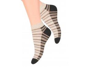 Dámské kotníkové ponožky se vzorem proužků 052/82 STEVEN
