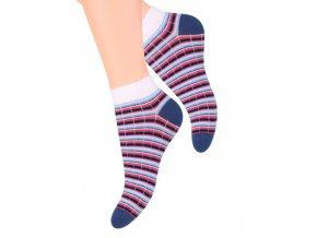 Dámské kotníkové ponožky se vzorem proužků 052/88 STEVEN