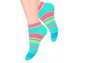 Dámské kotníkové ponožky se vzorem pruhů  052/104 STEVEN