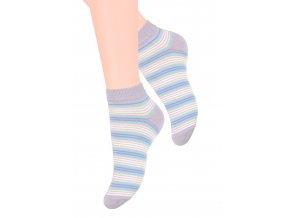 Dámské kotníkové ponožky se vzorem požků 052/110 STEVEN
