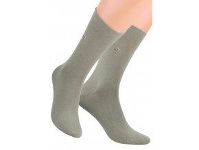 Pánské oblekové ponožky se vzorem dvou čtverců 056/1 STEVEN