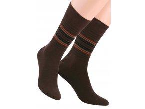 Pánské oblek ponožky s barevných pruhů STEVEN 056/6