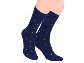 Pánské oblek ponožky se vzorem drobných teček STEVEN 056/42