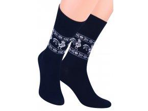 Pánské oblek ponožky se vzorem okolo kotníku STEVEN 056/52