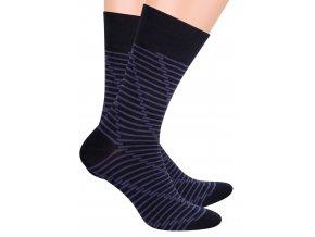 Pánské oblek ponožky se vzorem pruhů STEVEN 056/64