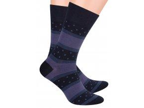 Pánské oblek ponožky se vzorem pruhů a puntíků STEVEN 056/69