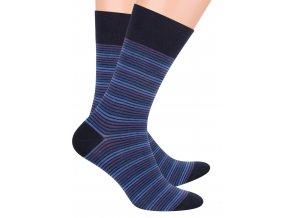 Pánské oblek ponožky se vzorem drobných proužků STEVEN 056/74