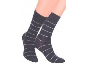 Pánské oblek ponožky se vzorem tenkého proužku STEVEN 056/37