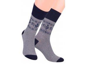 Pánské oblek ponožky se vzorem okolo kotníku STEVEN 056/55