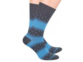 Pánské oblek ponožky se vzorem pruhů a puntíků STEVEN 056/66