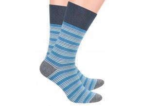 Pánské oblek ponožky se vzorem drobných proužků STEVEN 056/71