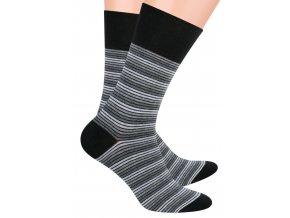 Pánské oblek ponožky se vzorem drobných proužků STEVEN 056/75