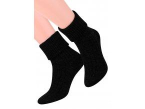 Dámské ponožky na spaní  se vzorem proužků 017/1 STEVEN