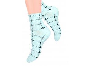 Dámské ponožky se vzorem kostek Steven 099/382