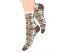 Dámské ponožky se vzorem kostky Steven 099/197