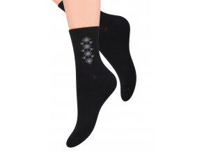 Dámské ponožky se vzorem na kotníku Steven 099/238