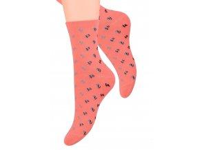 Dámské ponožky se vzorem drobných květin Steven 099/258