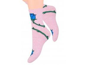 Dámské ponožky se vzorem růže Steven 099/269