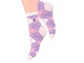 Dámské ponožky se vzorem velkých kostek Steven 099/299