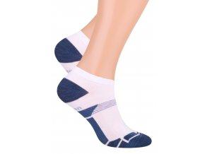 Pánské kotníkové ponožky se vzorem tenkých proužků 101/29 Steven